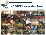 NC STEP Leadership Team - Town of Siler City