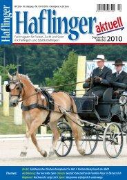 September/Oktober 2010 - Haflinger aktuell