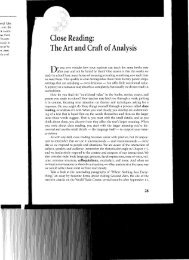 Close Reading: The Art and Craft ofanalysis - ctcarbonell