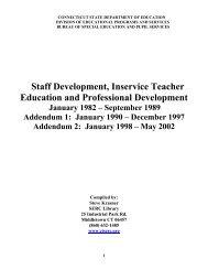 Staff Development, Inservice Teacher Education and Professional ...