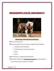 Department of Kinesiology - Mississippi State University
