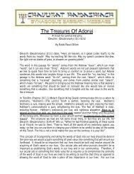 The Treasures Of Adonai