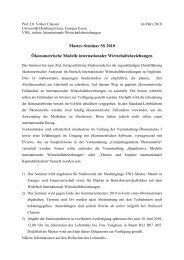 dieser Ankündigung - Lehrstuhl für Volkswirtschaftslehre, insb ...