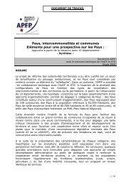Pays, Intercommunalités et communes - Pactes Locaux
