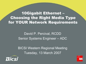 10Gigabit Ethernet – Choosing the Right Media Type for ... - Aldevar