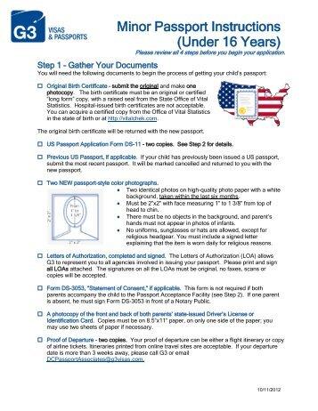 Passport Renewal Instructions G3 Visas Passports