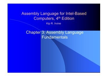 Assembly Language for Intel-Based Computers, 4th Edition Chapter 3