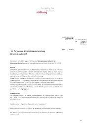 10. Turnus der Stipendienausschreibung für 2011 und 2012