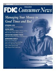 Managing Your Money In Good Times And Bad - FDIC