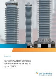 Raychem Outdoor Composite Termination OHVT for 123 kV up to ...