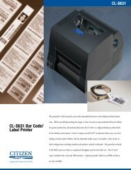 CL-S631 Bar Code/ Label Printer - Citizen