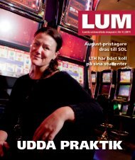 LUM nr 9, 2011 - Humanekologi Lunds universitet