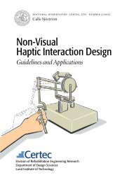 Non-Visual Haptic Interaction Design - Curtin University