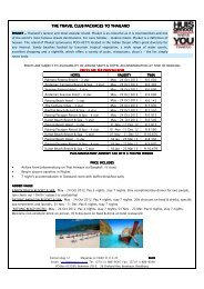 the travel cl the travel club packages to thailand ub packages to - YOU