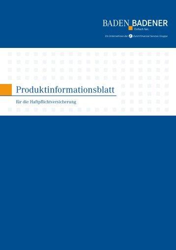 Produktinformationsblatt Pferdehaftpflicht - NAMMERT ...