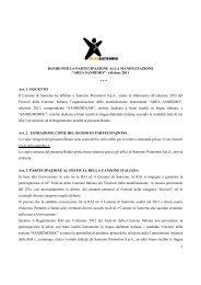 1 BANDO PER LA PARTECIPAZIONE ALLA ... - Area Sanremo