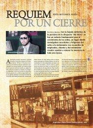 Réquiem por un cierre / Diego Quiroga - Revista La Central