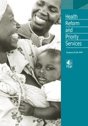 Health Reform and Priority Services Journal 1 - PHRplus