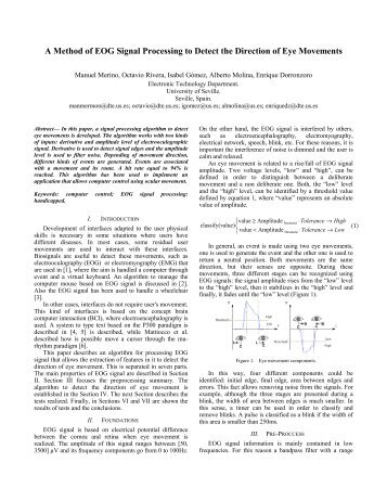 A Method of EOG Signal Processing to Detect the Direction of Eye ...