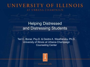 Helping Distressed and Distressing Students - The Graduate ...