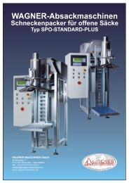 spo-standard-plus - WAGNER Maschinen GmbH