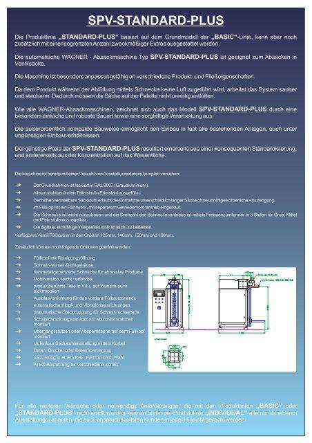 SPV-STANDARD-PLUS - WAGNER Maschinen GmbH