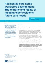 Residential care home workforce development - Joseph Rowntree ...