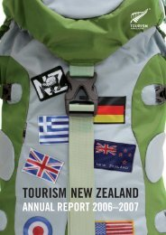Annual Report 2006-2007 - Tourism New Zealand