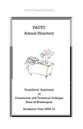 PACTC Membership Directory - Spokane Falls Community College