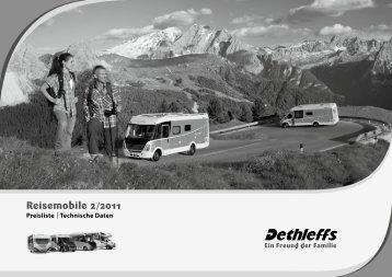Preisliste/Technische Daten Reisemobile 2011 - Dethleffs