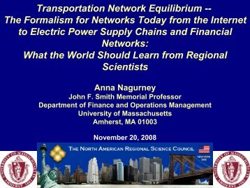 Transportation Science and the Dynamics of Critical Infrastructure ...