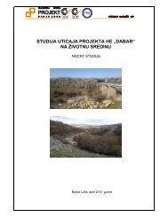 HE Dabar na slivu rijeke Zalomke na profilu Pošćenje, opštine ...