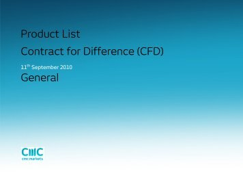 Product List Contract for Difference (CFD) General - CMC Markets
