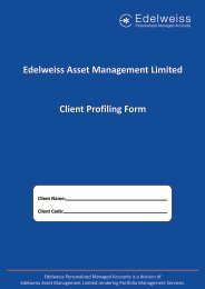 Application Form - Edelweiss - Personalized Managed Accounts