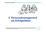 Personalmanagement als Erfolgsfaktor 5