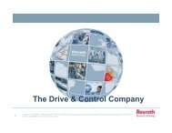 Bosch Rexroth. The Drive & Control Company