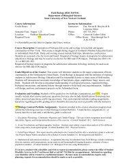 Field Biology (BIO 310/510) Department of ... - SUNY Cortland