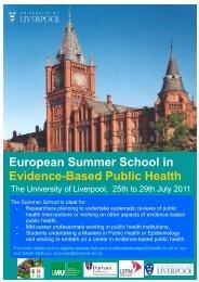 European Summer School in Evidence-Based Public Health