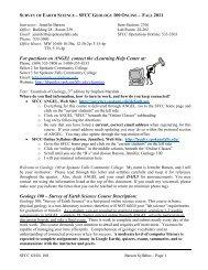 Principles of Geology – GEOL 101 - Faculty Websites - Spokane ...