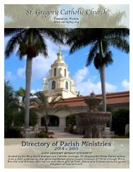 II. Community Life Ministries - St. Gregory the Great