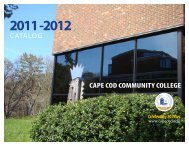 2011-2012 Catalog Cape Cod Community College