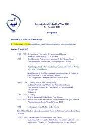 Europäisches SC-Treffen Wien 2013 4. – 7. April 2013 Programm