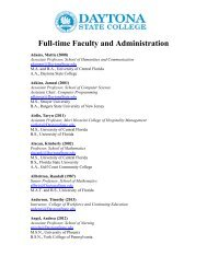 Full-time Faculty and Administration (PDF) - Daytona State College