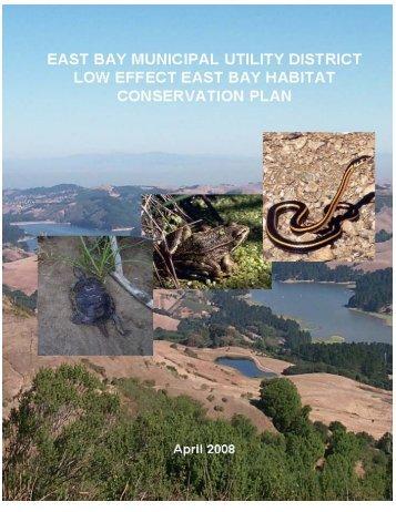 Habitat Conservation Plan - East Bay Municipal Utility District