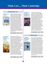 Law Check List 2012 final.pmd - Cambridge University Press India