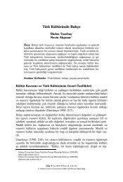 Türk Kültüründe Bahçe - Bilig - Ahmet Yesevi Üniversitesi