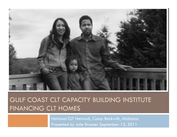 Financing CLT Homes - National Community Land Trust Network