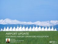 DIA Terminal Development Update – Kim Day, Manager of Aviation ...