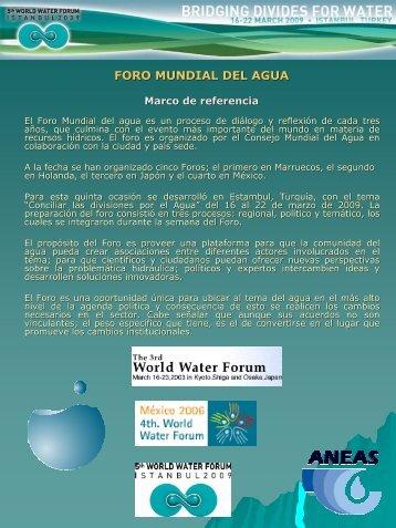 FORO MUNDIAL DEL AGUA - Aneas