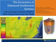 The Economics of Enhanced Geothermal Systems - West Virginia ...
